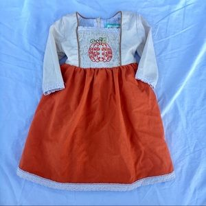 Other - Vintage Mint Smocked Pumpkin Dress - 18 Months